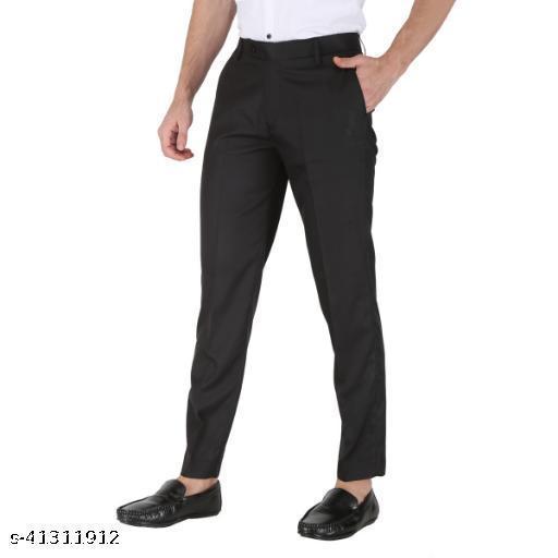 Black Formal Trousers For Men