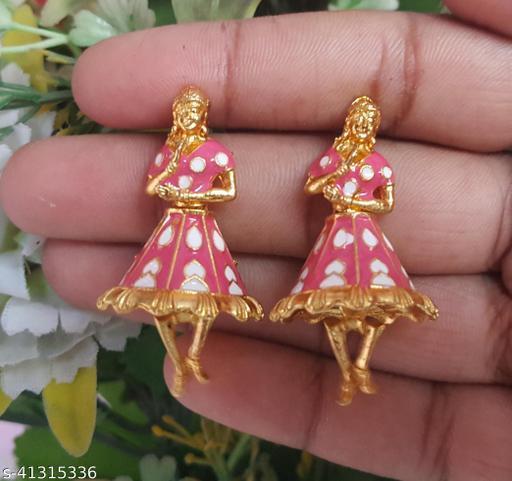 Mehpriye Beautiful Dancing Doll ButtaBomma Earrings