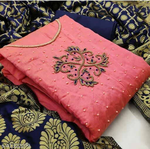 WN Simple Chanderi Suit & Dress Material