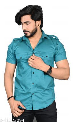 Allons-Y Let's go men's half sleeves R.Green cargo shirt .