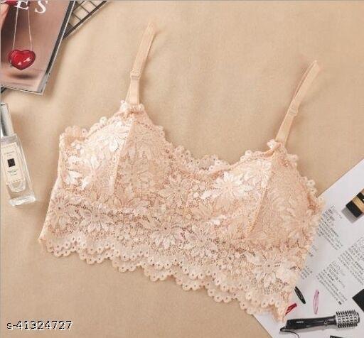 Blossom Beauty Women Stylish Floral Lace Bralette