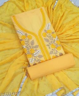 WN Simple Cotton Suit & Dress Material