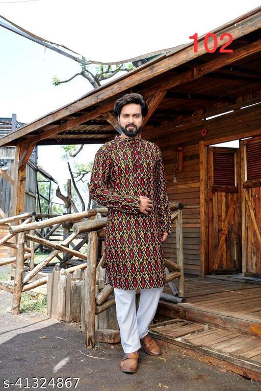 TRADENEST men's cotton printed kurta payjama set