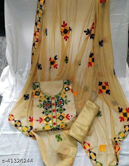 WN Women Trendy Chanderi Cotton Suit