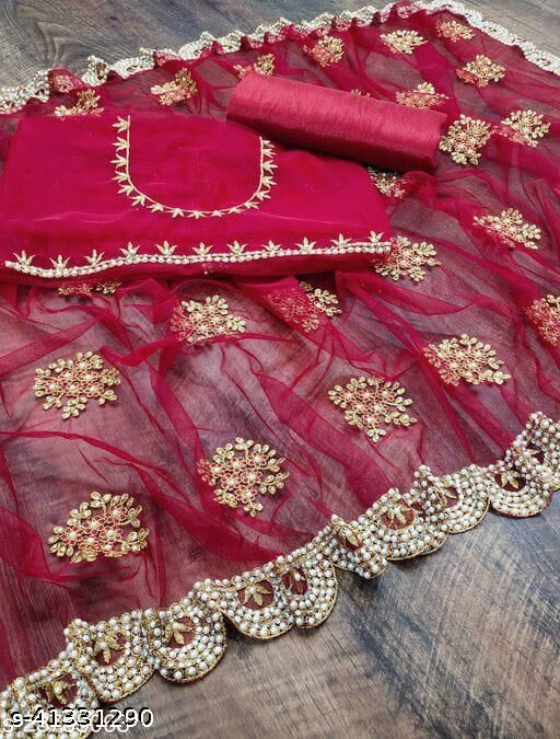 madhuri zalar ambrodary and daimond work soft net sareee