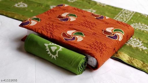Arkaja Batik with Embroidary Pure Cotton Dress Material