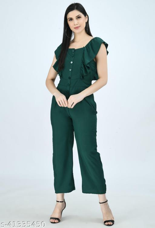 Bottel Green Jumpsuit for Women