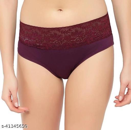 Women Hipster Purple Cotton Blend Panty