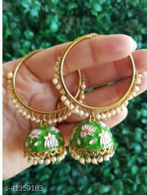 Designer Celebrity Meari Jumka Earring Set