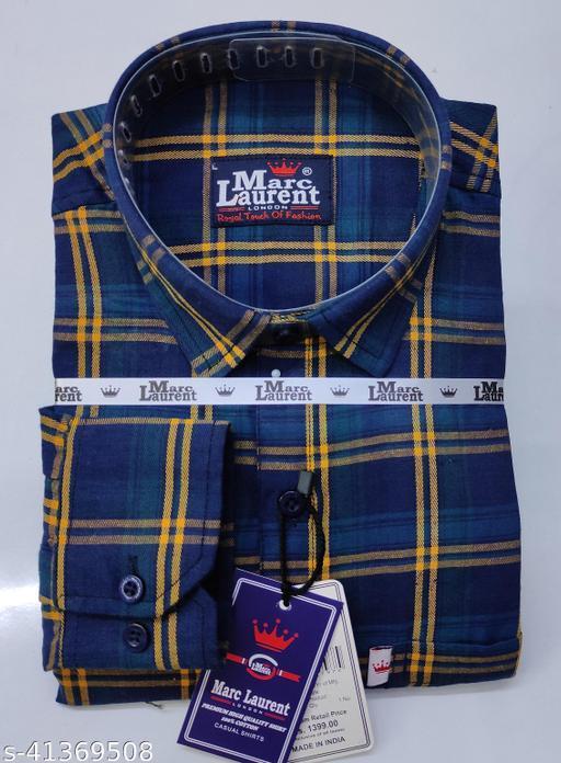 Branded check shirt for Men, Single pocket, Full sleeves vol1