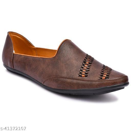 Mr Men Brown Casual Wear Loafers For Men, Ethnic Wear Loafers For men, Partywear Loafers For Men