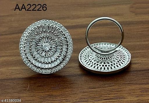 Elite American Diamond Circle Big Adjustable Ring