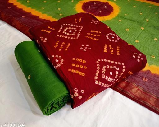 Arkaja Authentic Bandhani (Bandhej) Pure Cotton Salwar Suits & Dress Materials
