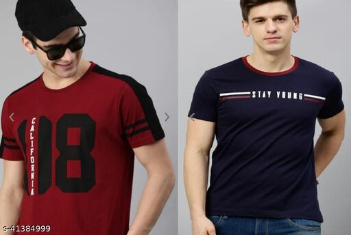 Ruggstar best selling cotton combo t-shirt for men pack of 2