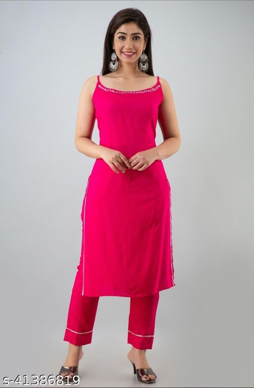 TRENDY ETHINIC KURTI WITH PANT FOR WOMENS