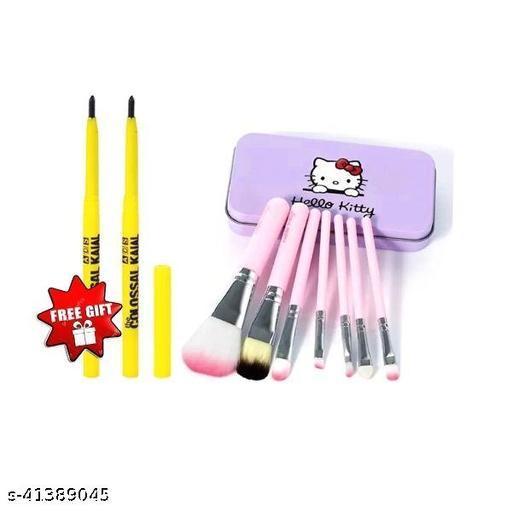 hello kitty brush set pack of 1+ colossal kajal pack of 2
