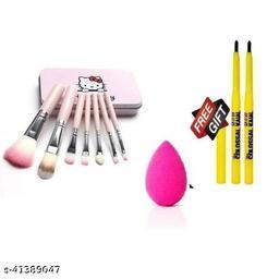 hello kitty brush set pack of 1+ colossal kajal pack of 2+ beauty blender pack of 1