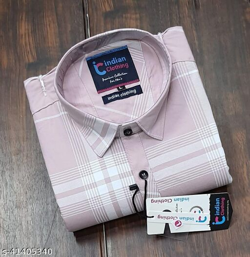Trendy Premium Cotton Men's Full Sleeve Casual CHECKED Shirt - PINK