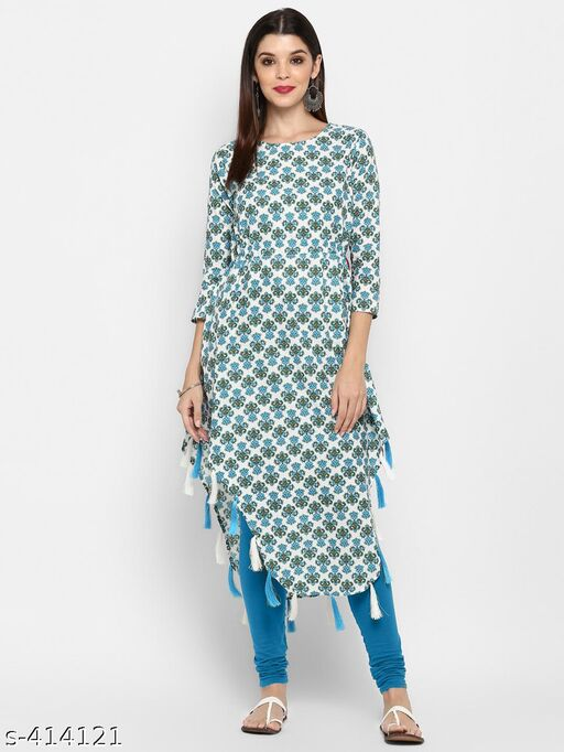 Vbuyz Women's Printed Cotton Kurti