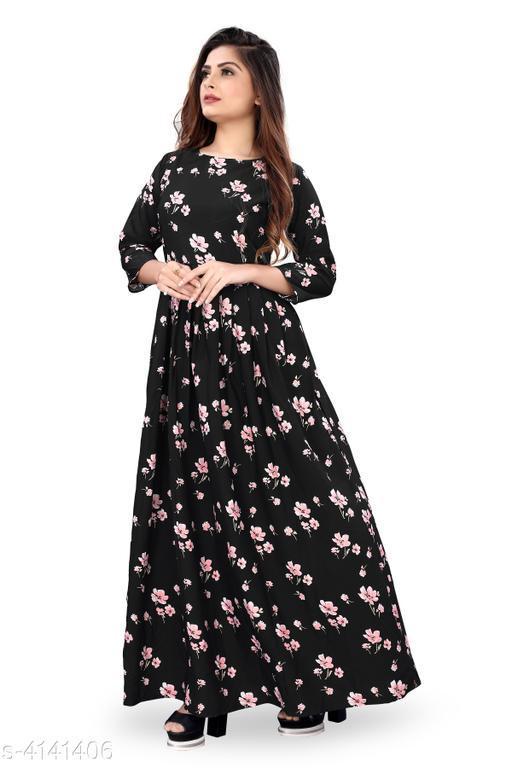 Trendy Crepe Solid Women's Dress