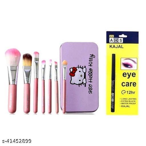 hello kitty brush set pack of 1+ ads eye care kajal pack of 1