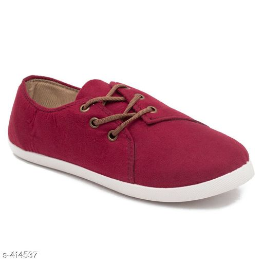 Casual Shoes Stylish Canvas Women's Footwear (MRP- Rs 499)   *Material* Canvas   *UK/IND Size* 4, 5, 6, 7, 8   *Euro Size* 37, 38, 39, 40, 41   *Closure* Lace Up   *Description* It Has 1 Pair Of Women's Footwear   *Pattern* Solid   *Disclaimer* Maximum Retail Price (MRP) mentioned in product name.  *Sizes Available* IND-8, IND-5, IND-6, IND-7 *   Catalog Rating: ★4 (433)  Catalog Name: Classy Women's Casual Shoes Vol 11 CatalogID_44846 C75-SC1067 Code: 804-414537-