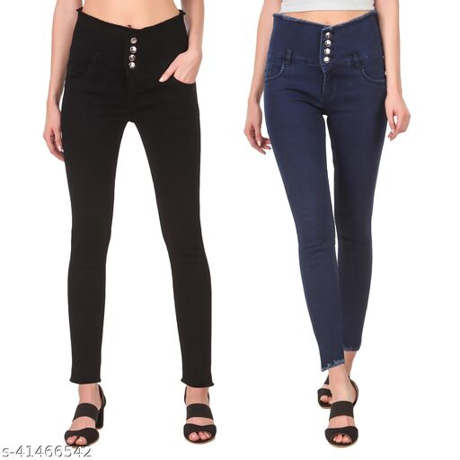 Jac Fashion Exclusive Combo Women Jeans (Pack of Blk DB)