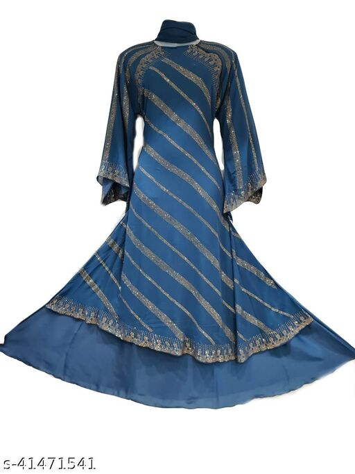 Firozi Shirak Abaya in Al Nida Fabric With laher Naqab