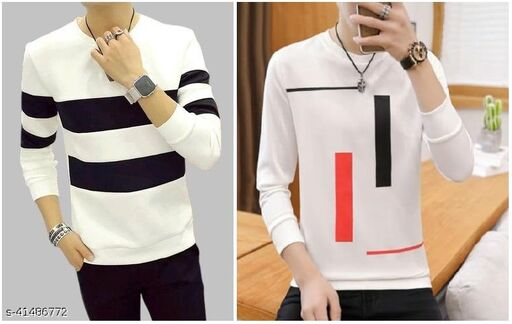 Stylesmyth Best Selling  Printed Full Sleeves  T' shirt for man