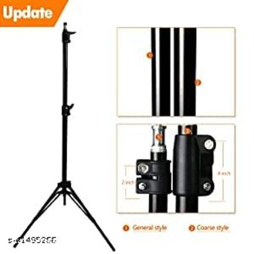 5 Feet tripod Stand Compatible with Camera and Smartphones. The tripod's three-way head allows for ultimate versatility. Easily change the orientation of the camera from portrait to landscape--and almost any angle in between with the handy tilt motion.