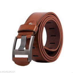 Men Casual And Formal Brown Artificial Leather Belt