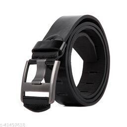 Men Casual And Formal Black Artificial Leather Belt