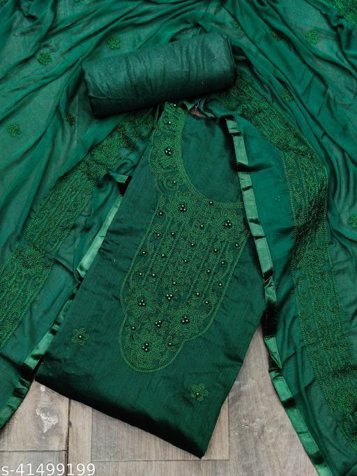Chanderi Designer Unstiched Dress Material