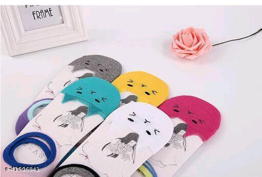 PinKit Women's Acrylic & Cotton Socks-5 Pairs
