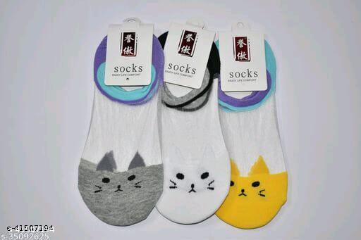 Ekshi Women's Acrylic & Cotton Socks-3 Pairs