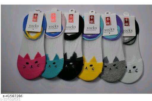 Ekshi Women's Acrylic & Cotton Socks-6 Pairs