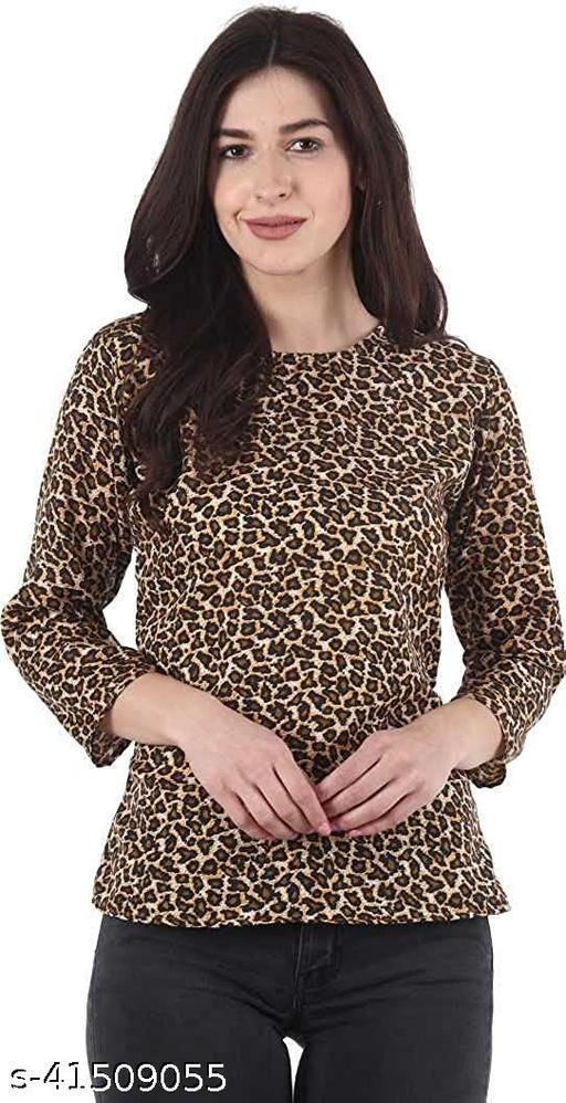 Trendy Women's Tiger Print Plain top