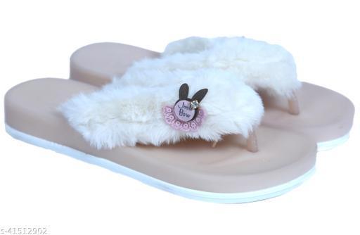 KRENYA Faux fur Flipflop Slipper for kids girls