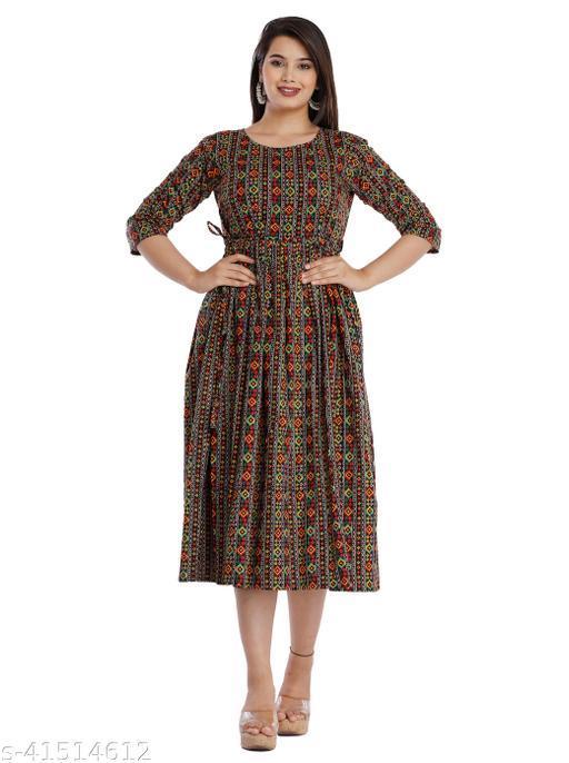 stylish trendy women heavy cotton gown