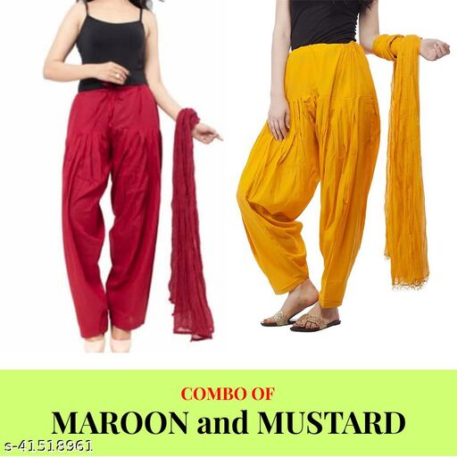 Women Pure Jaipuri Cotton Salwar with Dupatta Combo