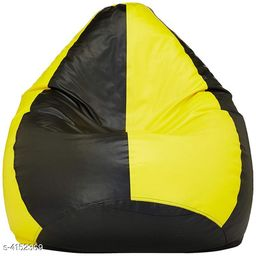 VSK XXL Bean Bag Cover Yellow & Black (Without Beans)