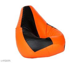 VSK XXL Bean Bag Cover Orange & Black (Without Beans)