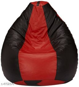 VSK XXL Bean Bag Cover Red & Black (Without Beans)
