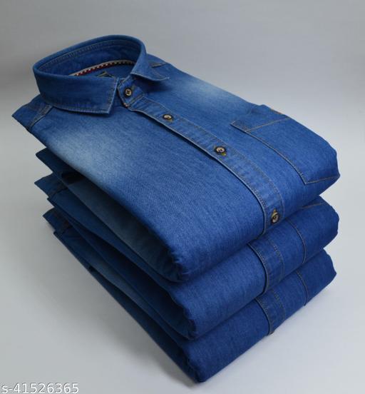 Men's Casual Denim Hard & Bata Shirts