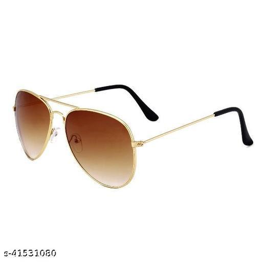 Aviator Sunglasses For Men And Women Golden Brown