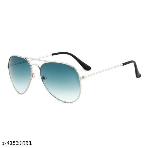 Aviator Sunglasses For Men And Women Sliver Green