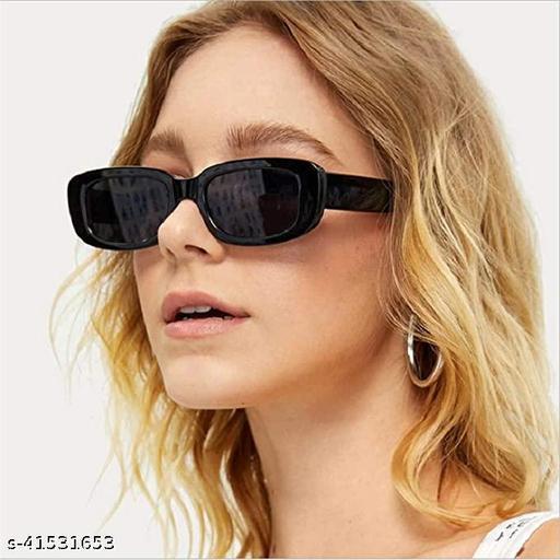 Arzonai Rectanglular Sunglasses for Women Retro Driving Sunlgasses Vintage Fashion Narrow Square Frame