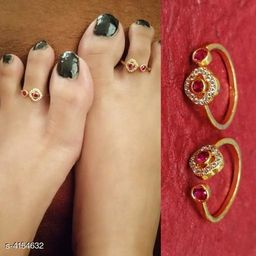 Women's Brass Gold Plated Anklets & Toe Rings