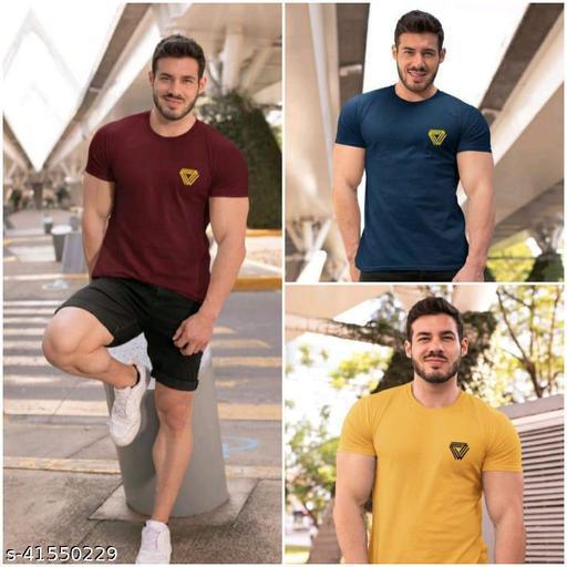 Comfortable 100% Cotton Men's T-Shirt Pack Of 3