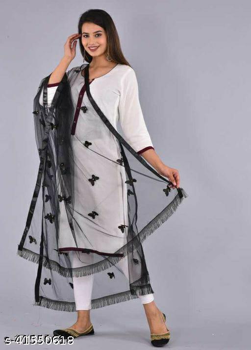 beautiful women's net butterfly dupatta
